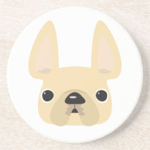Cream Frenchie Coaster