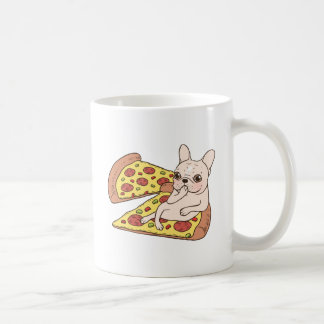 Cream Frenchie invites you to her pizza party Coffee Mug