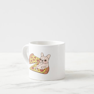 Cream Frenchie invites you to her pizza party Espresso Cup
