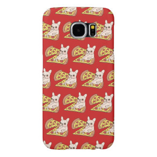 Cream Frenchie invites you to her pizza party Samsung Galaxy S6 Case