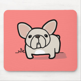 Cream Frenchie Mouse Pad