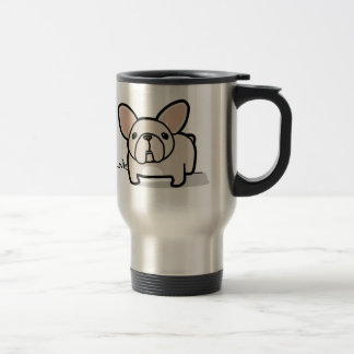 Cream Frenchie Travel Mug