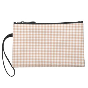 Beach Themed Cream-Gingham-Classic-Sueded & Multi Bag's Suede Wristlet
