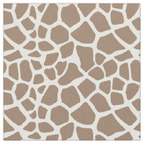 Cream Giraffe Print Fabric
