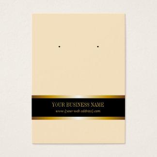 Cream Gold Black Custom Earring Card