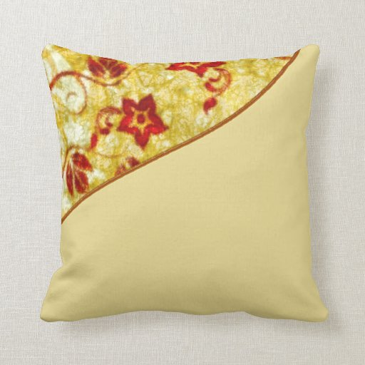 Cream Floral Throw Pillows : Cream, Gold & Burgundy Red Floral Throw Pillow Zazzle