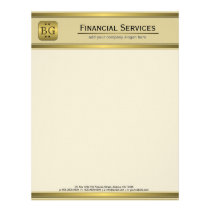 Cream Gold Plate Accounting Business Letterhead