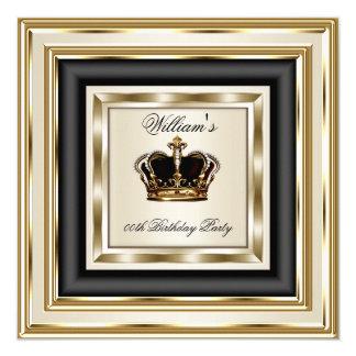 Cream Gold Silver Birthday Prince King Queen 2 Card
