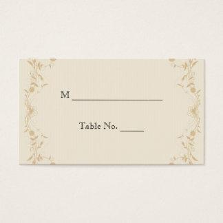 Cream Gold Vintage Pinstripe Wedding Place Cards