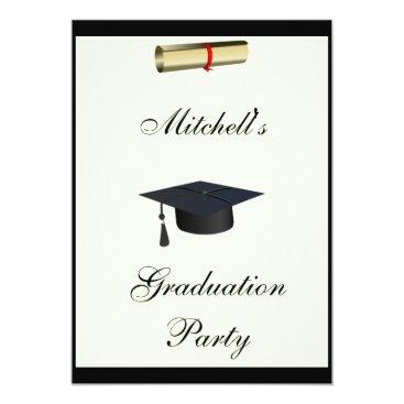Professional Business Cream Graduation Party Formal Invitation