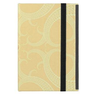 Cream Heart Fractal Pattern Cover For iPad Mini