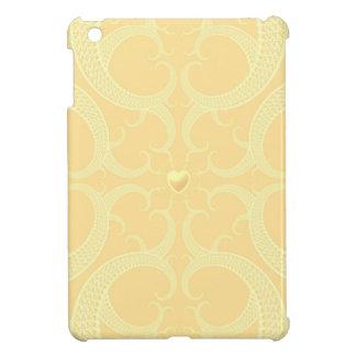 Cream Heart Fractal Pattern iPad Mini Case