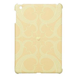 Cream Heart Fractal Pattern iPad Mini Cases