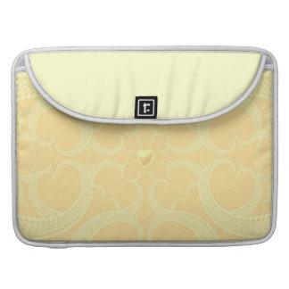 Cream Heart Fractal Pattern MacBook Pro Sleeve