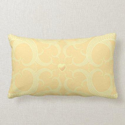 Cream Heart Fractal Pattern Pillows