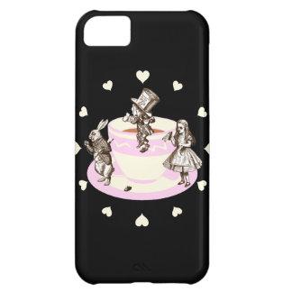 Cream Hearts Around a Mad Tea Party iPhone 5C Case