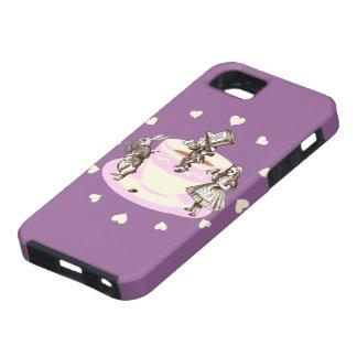Cream Hearts Around a Mad Tea Party iPhone SE/5/5s Case