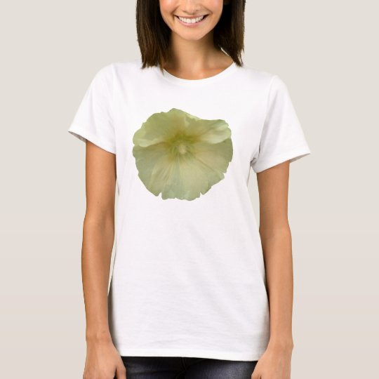 Cream Hollyhock Ladies T Shirt
