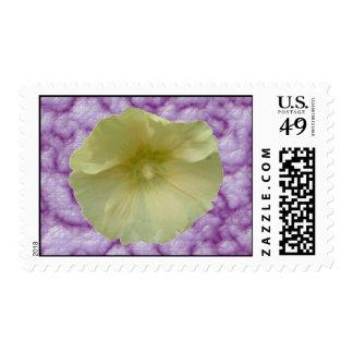 Cream Hollyhock US Postage Stamp