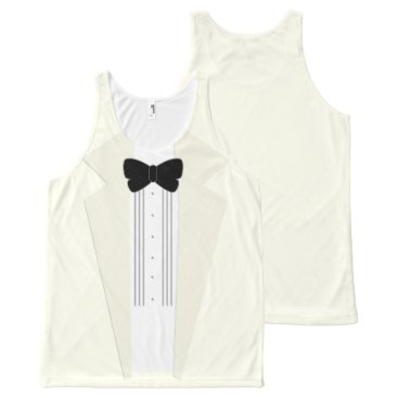 Beach Themed Cream Ivory Tuxedo Beach Wedding Tank