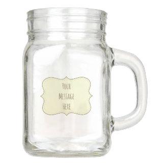 Cream Ivory White Label Personalized Mason Jar