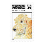 Cream Labradoodle #2 Postage Stamp