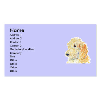 Cream Labradoodle Business Cards