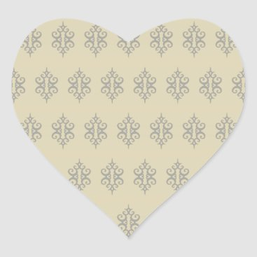 Professional Business Cream Lace Heart Stickers