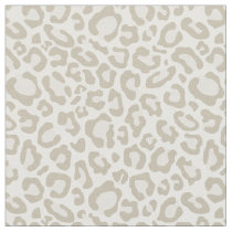 Cream Leopard Print Fabric