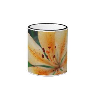 cream lily ringer mug