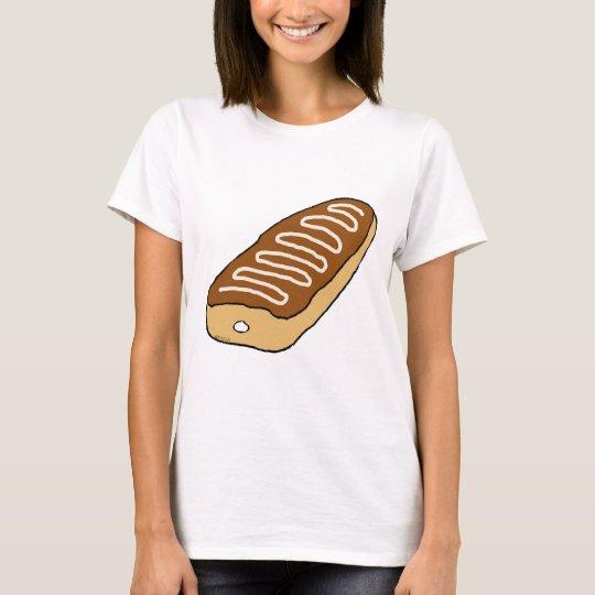 Cream Long John Doughnut T-Shirt