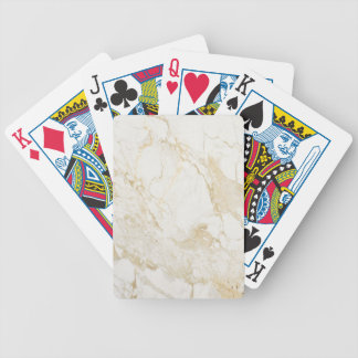 Cream Marble Bicycle Playing Cards