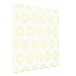 Cream Modern Sunbursts Stretched Canvas Prints