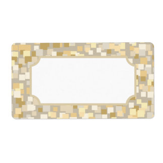 Cream Mosaic Style Labels