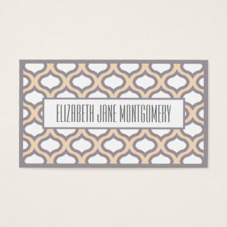Cream Ogee Modern Appointment Business Card