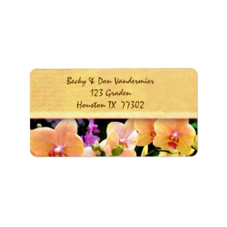 Cream Orchid Flower Labels