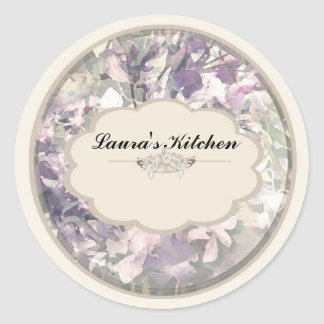 cream orchids spice jar labels