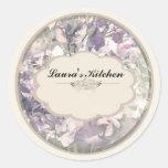 cream orchids spice jar labels sticker