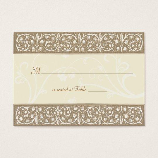 Cream Ornamental Frieze Place Card