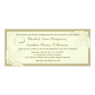 Cream Passionflowers Christian Wedding Invitation