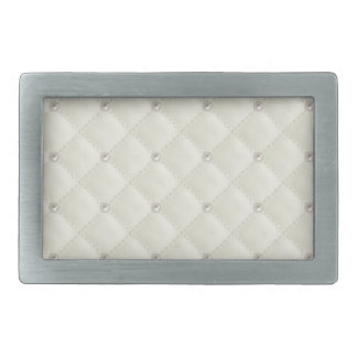 Cream Pearl Stud Quilted Belt Buckle