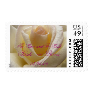 Cream Perfection Wedding Stamp