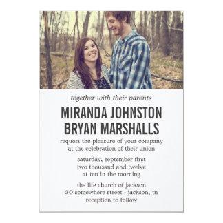 """Cream Photo Design Wedding Invitations 5"""" X 7"""" Invitation Card"""
