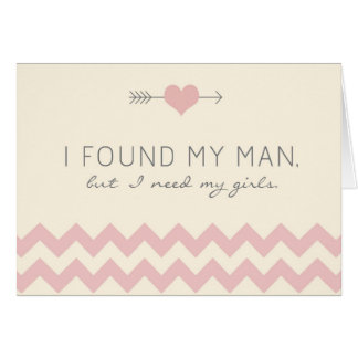 Cream Pink Chevron Maid of Honor Card