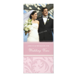 Cream Pink Photo Wedding Vow Renewal Invitations