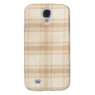 Cream Plaid Samsung S4 Case