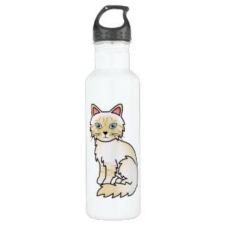 Cream Point Tabby Birman / Ragdoll Cat Water Bottle