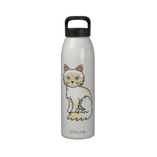 Cream Point Tabby Birman / Ragdoll Cat Water Bottles