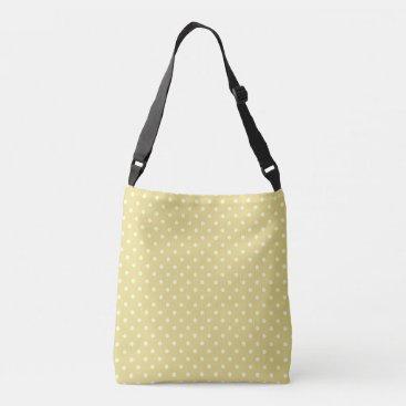Beach Themed Cream polka dots design on green crossbody bag