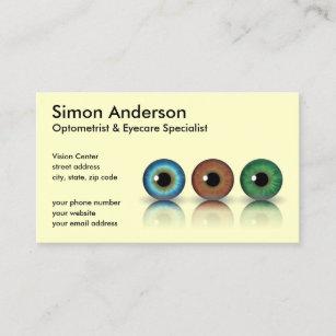 Optometry business cards zazzle cream professional eyeballs optometry business card colourmoves